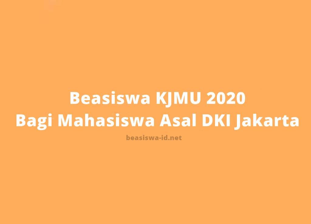 Beasiswa KJMU 2020 - Program Kuliah Gratis dari Pemkot DKI Jakarta bagi Mahasiswa D3 atau S1