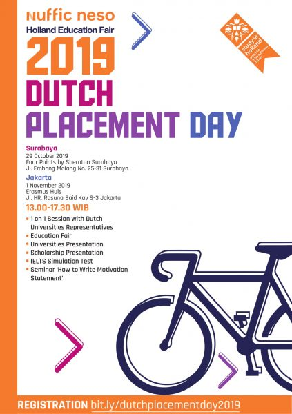Pameran Pendidikan Dutch Placement Day (DPD 2019), Info Kuliah Gratis di Belanda
